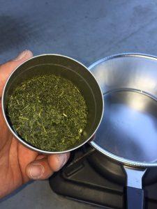 深蒸し茶キャンドル_お茶